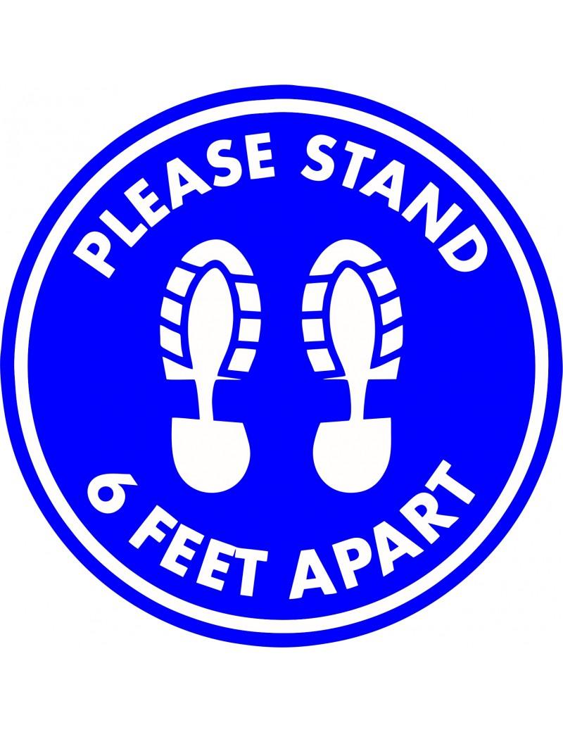 Floor Decal - 6 Feet Apart