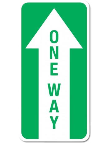 Floor Decal - One Way