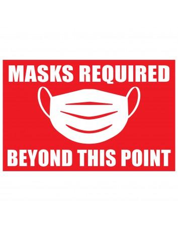 Masks Required Window Vinyl