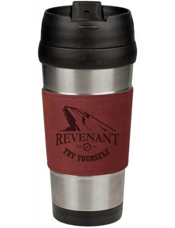 Leatherette Grip Travel Mug