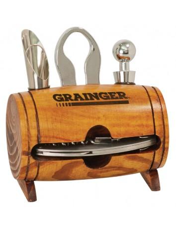 Barrel 4-piece Wine Tool Set