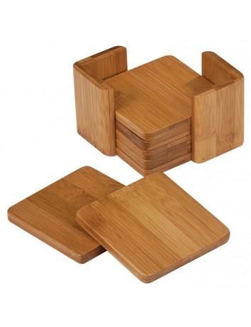 Bamboo Square Coaster Set