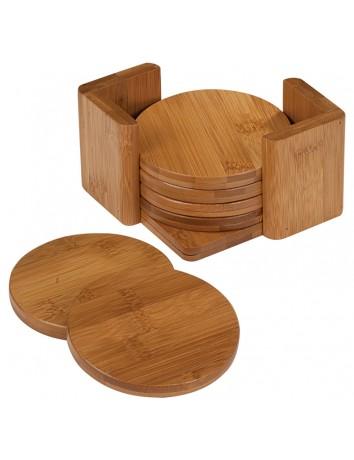 Bamboo Round Coaster Set