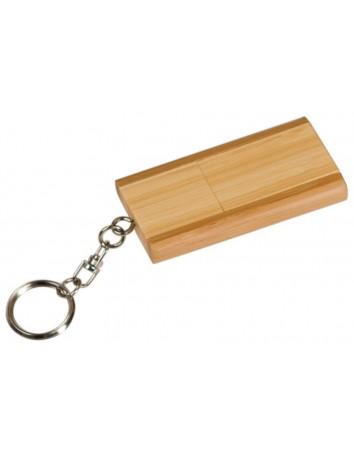 USB Bamboo Flip Keychain