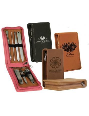 Leatherette Manicure Set