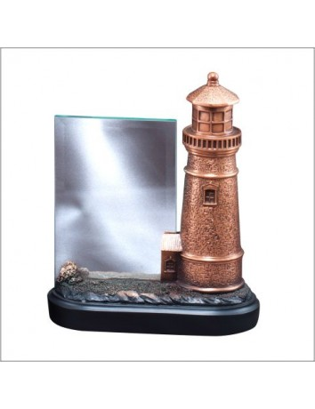 Lighthouse Resin with Glass