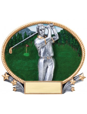 Golf Swing Oval Resin