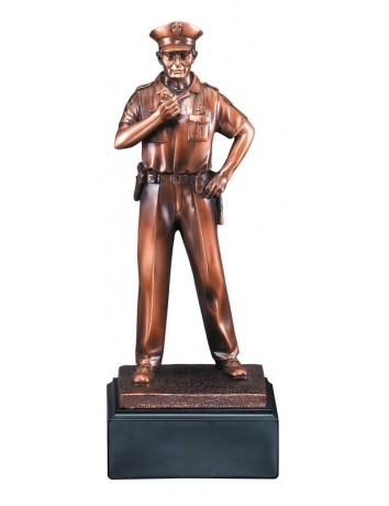 American Hero Policeman Resin