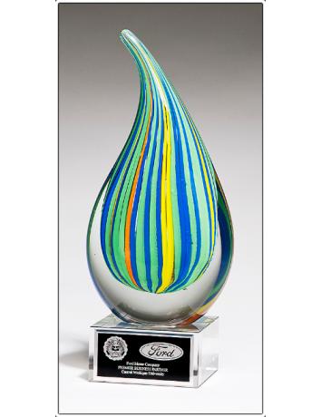 Glass Art Stripe Droplet