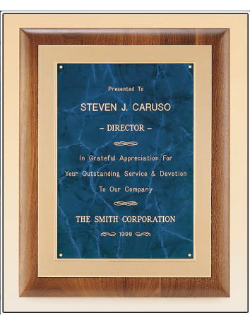 Walnut Plaque with Gold Frost Frame