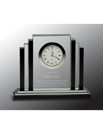 Crystal Clock with Black Trim