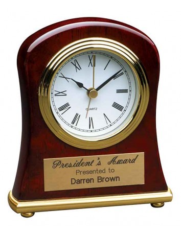 Rosewood Bell Desk Clock