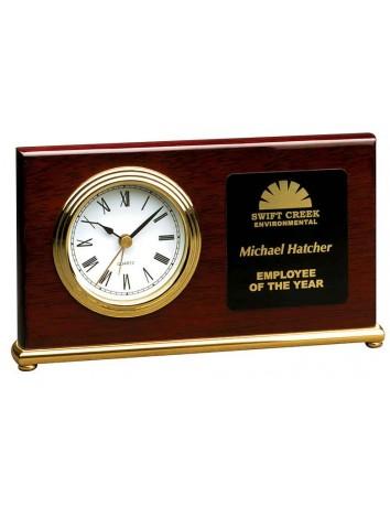 Rosewood Horizontal Desk Clock