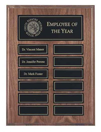 Walnut Pocket Perpetual Plaque with Magnetic Plates