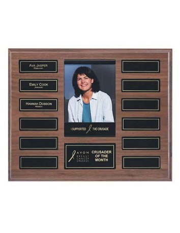 Walnut Pocket Perpetual Plaque with Photo