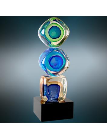 Glass Art Cubes