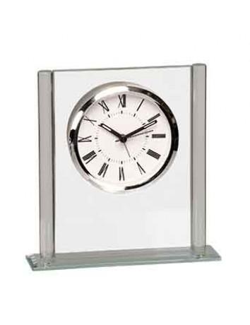 Glass Column Square Clock