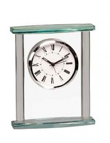 Glass Column Square Clock with Top