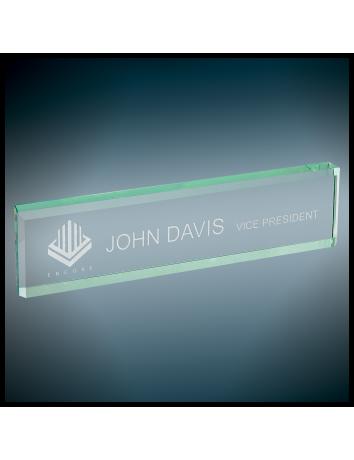 Jade Glass Desk Wedge
