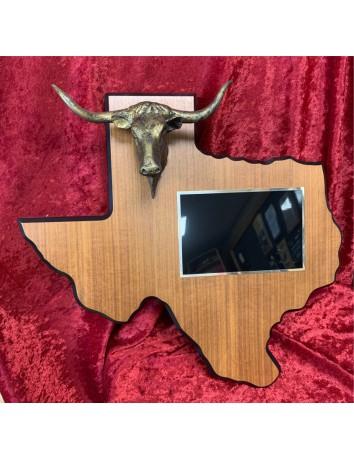Longhorn Texas Plaque