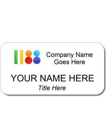 """1.5"""" x 3"""" Design your own Nametag"""
