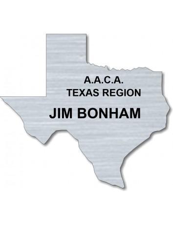 Texas Shaped Nametag